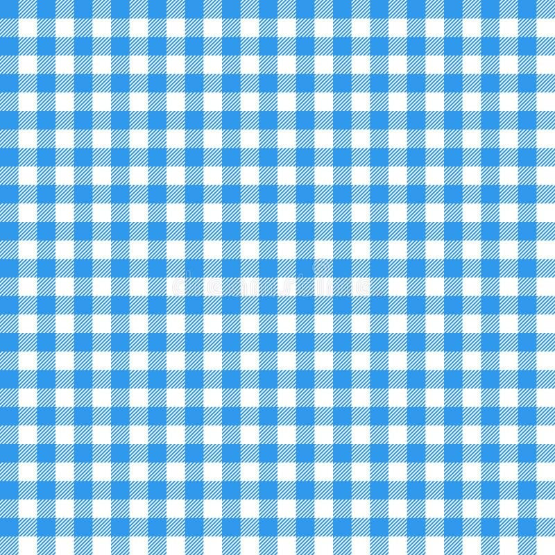 Reticolo senza cuciture del percalle Tovaglia italiana blu Vettore del panno di racconto di picnic royalty illustrazione gratis