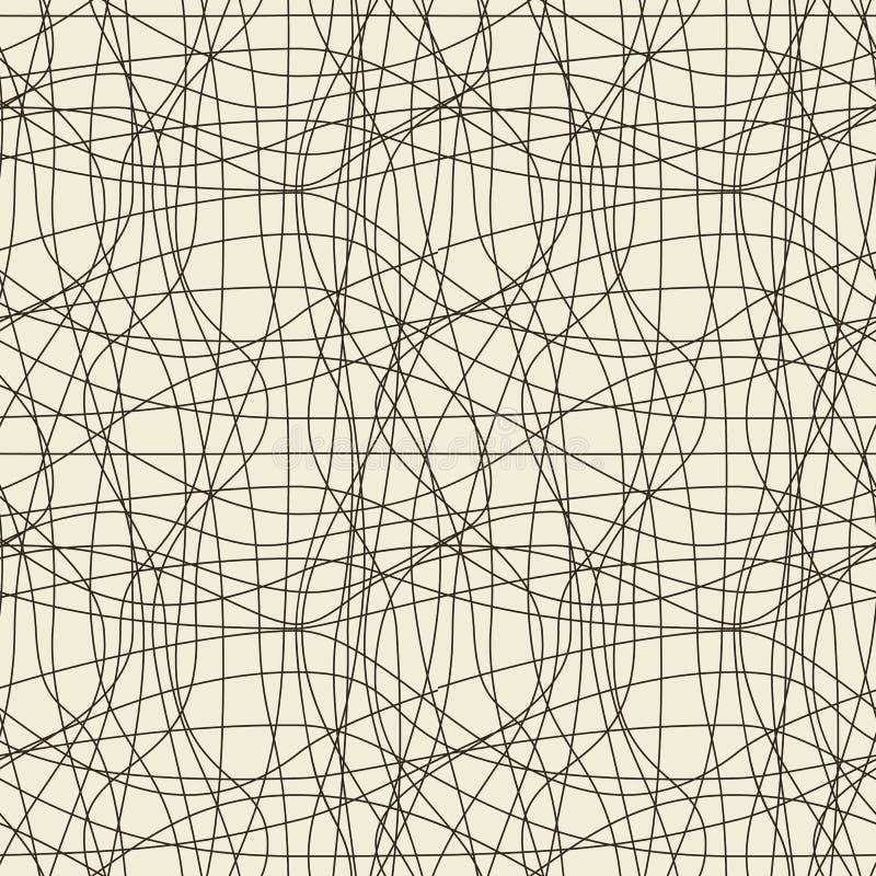 Reticolo senza cuciture di Abstrac illustrazione vettoriale