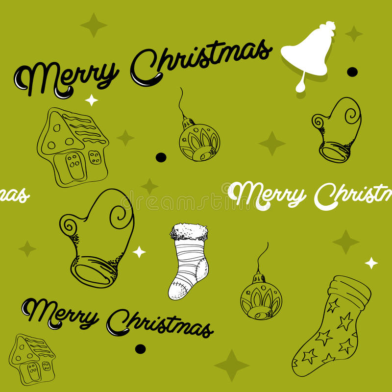 Reticolo senza cuciture di Natale illustrazione vettoriale