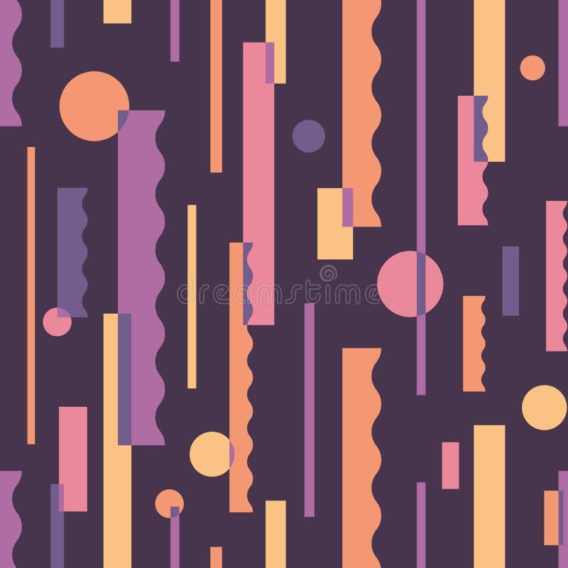 Reticolo senza giunte astratto Backgound decorativo geometrico Struttura dei pianeti dello spazio Contesto d'annata dell'ornament illustrazione di stock