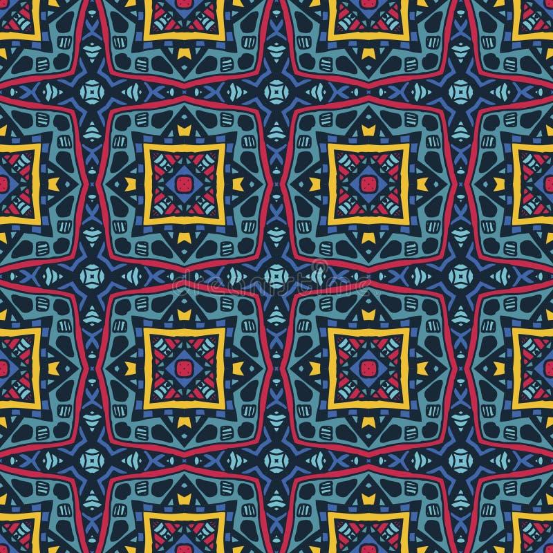 Reticolo senza giunte astratto Carta da parati scura urbana strutturata di lerciume con la linea geometrica, quadrati, elementi d royalty illustrazione gratis