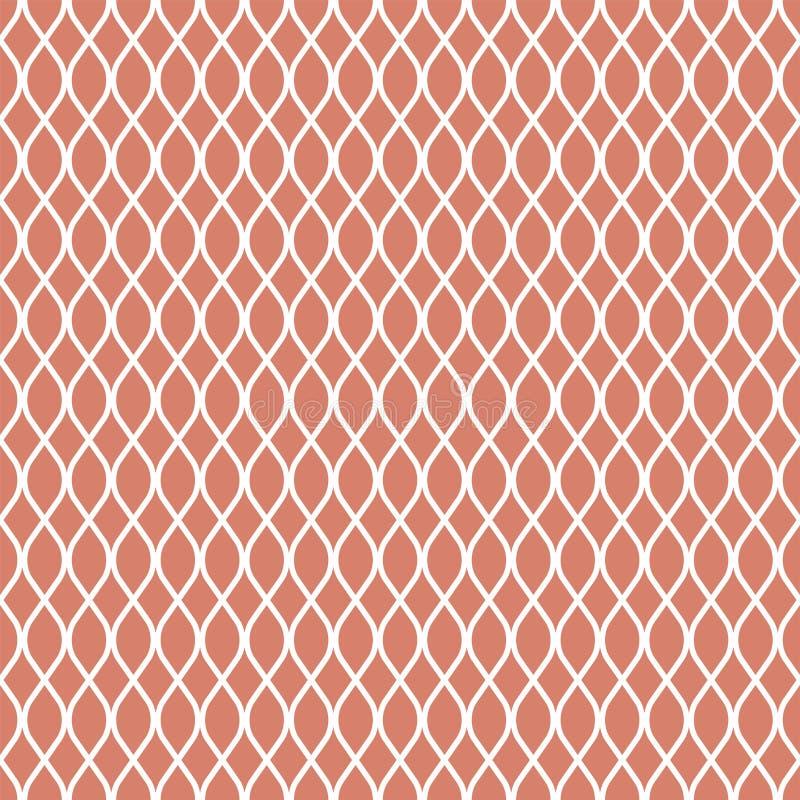 Reticolo senza giunte astratto Catena Stampa geometrica di progettazione di modo Carta da parati monocromatica illustrazione vettoriale