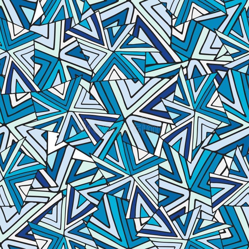 Reticolo senza giunte astratto di vettore Fondo geometrico freddo Struttura di modo per tessuto o progettazione di spostamento illustrazione vettoriale