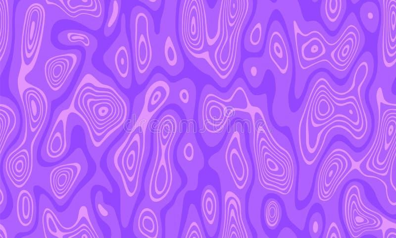 Reticolo senza giunte astratto di vettore Ondulazioni dell'acqua, onde, labirinto dei percorsi ondulati Colore rosa e porpora illustrazione vettoriale