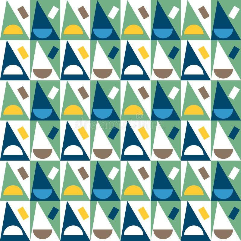 Reticolo senza giunte astratto geometrico Fondo semplice dei triangoli royalty illustrazione gratis