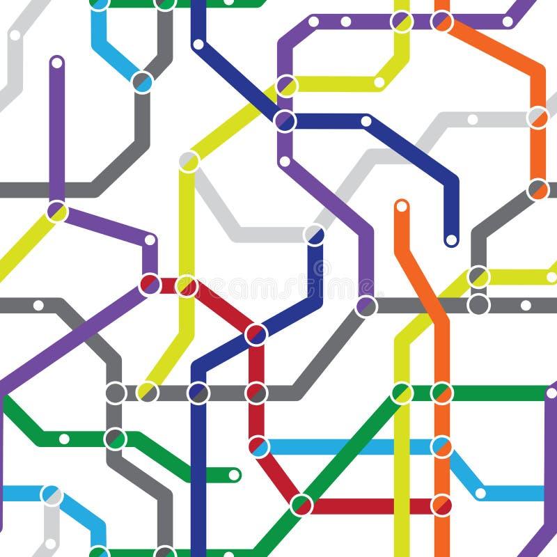 Reticolo senza giunte astratto - schema della metropolitana illustrazione di stock