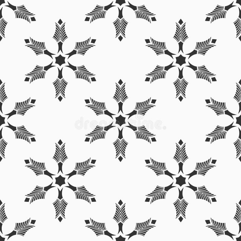 Reticolo senza giunte astratto struttura alla moda moderna Ripetizione dell'ornamento geometrico Forme circolari simmetriche illustrazione di stock