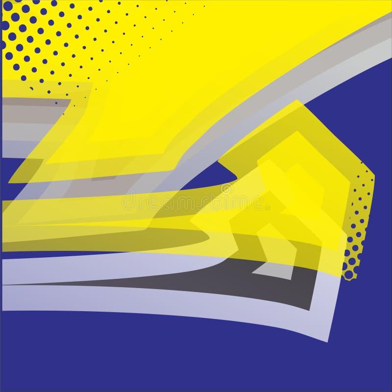 Reticolo senza giunte astratto Vettore grafico corsa del fondo per l'involucro e la decalcomania del vinile blu del greyand, colo illustrazione vettoriale