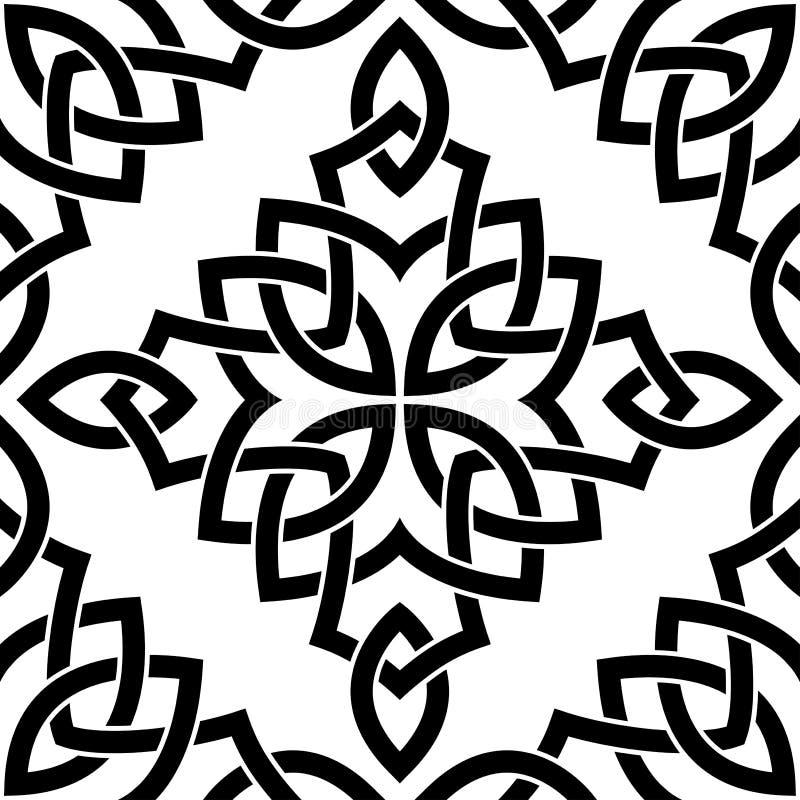 Reticolo senza giunte celtico nero illustrazione vettoriale