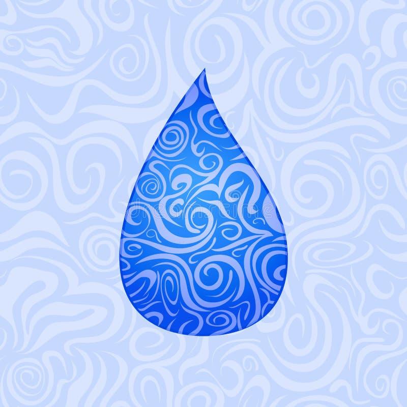 Reticolo senza giunte con goccia dell'acqua illustrazione vettoriale