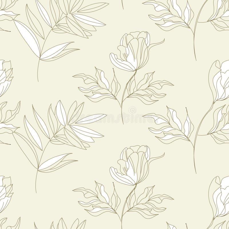 Reticolo senza giunte con i fiori illustrazione di stock