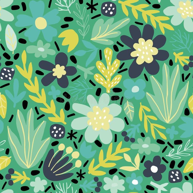 Reticolo senza giunte con i fiori astratti immagini stock