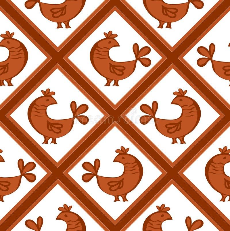 Reticolo senza giunte con i polli immagini stock