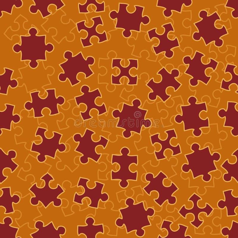 Reticolo senza giunte con i puzzle illustrazione vettoriale