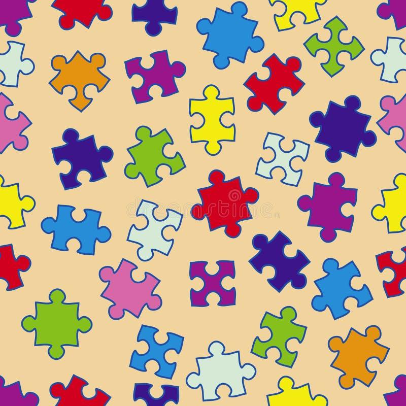Reticolo senza giunte con i puzzle illustrazione di stock