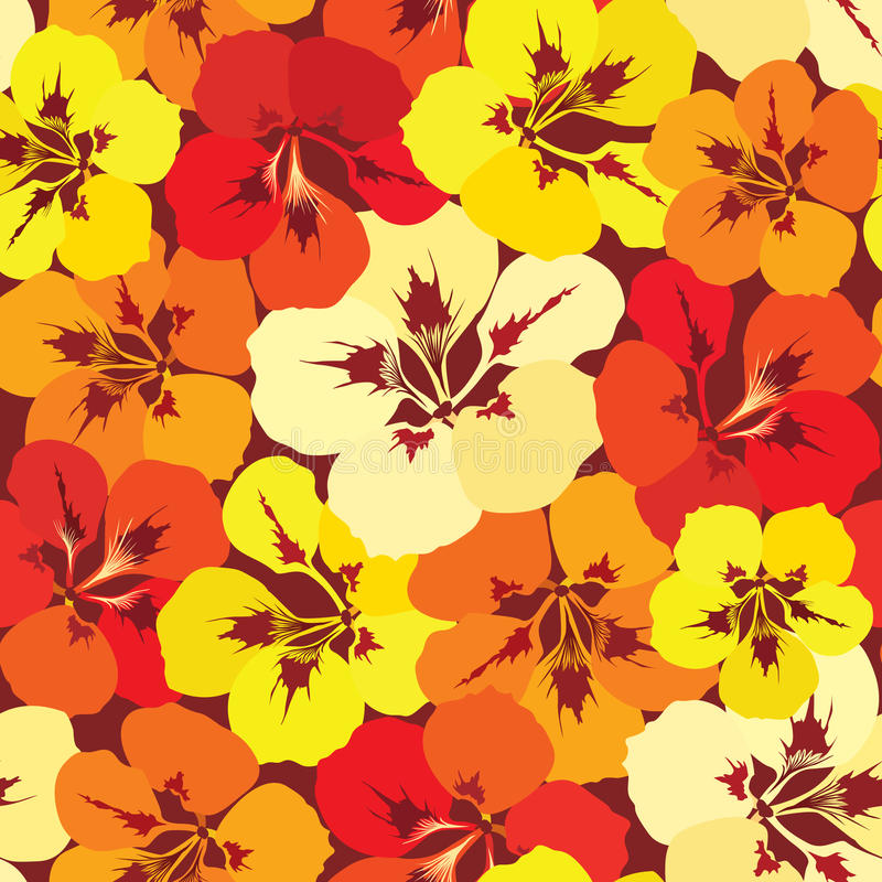 Reticolo senza giunte con il nasturzio dei fiori illustrazione vettoriale