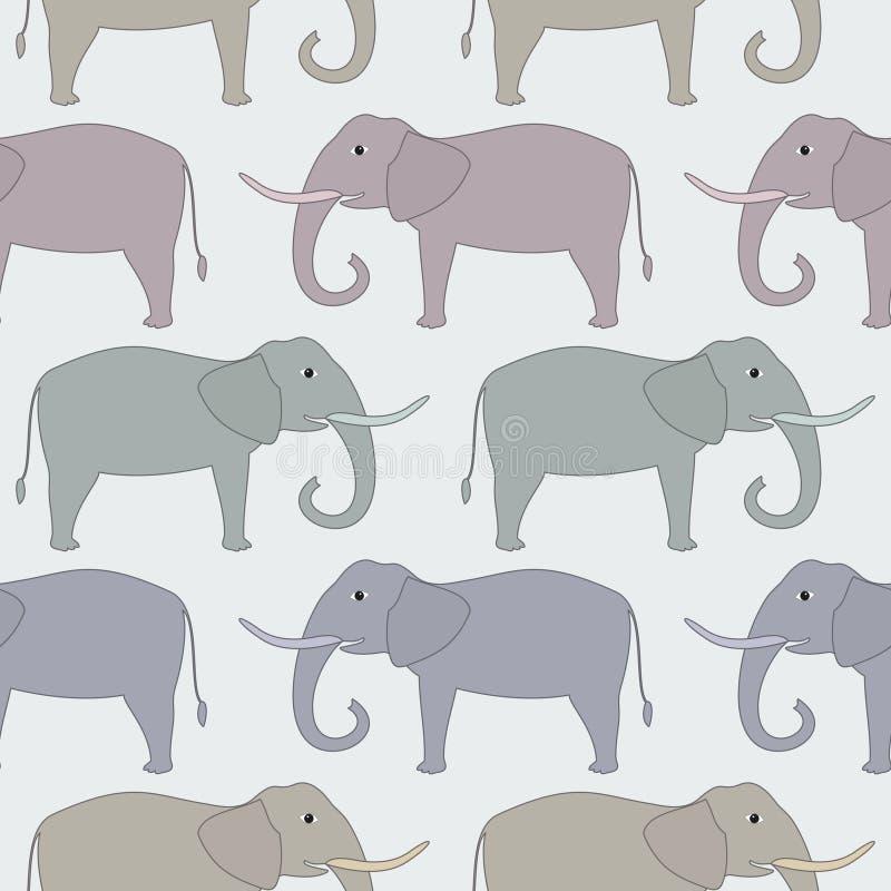 Reticolo senza giunte con l'elefante royalty illustrazione gratis