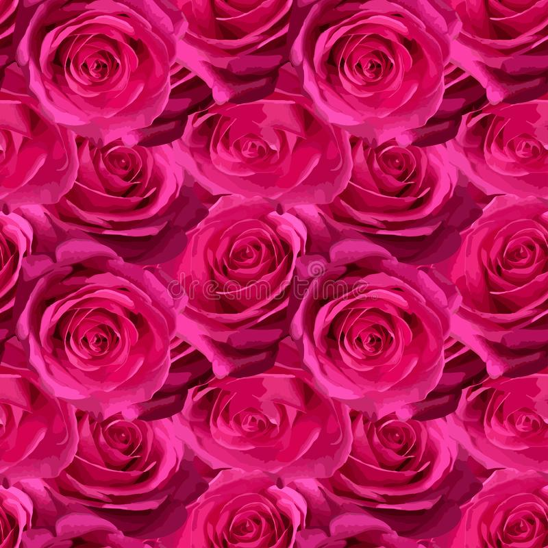 Reticolo senza giunte con le rose royalty illustrazione gratis