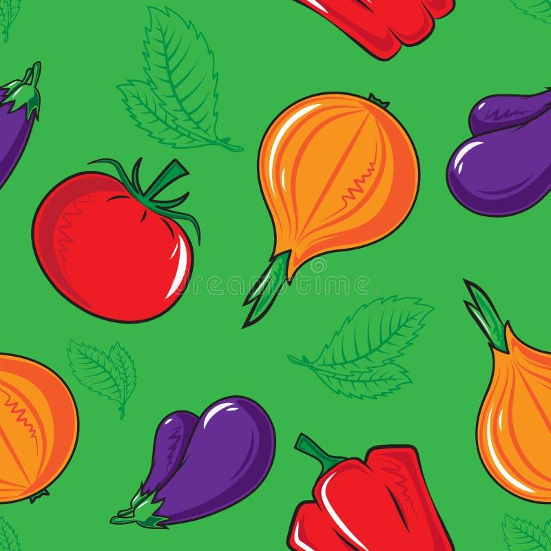 Reticolo senza giunte con le verdure illustrazione vettoriale