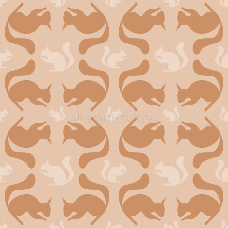 Reticolo senza giunte con lo scoiattolo illustrazione di stock