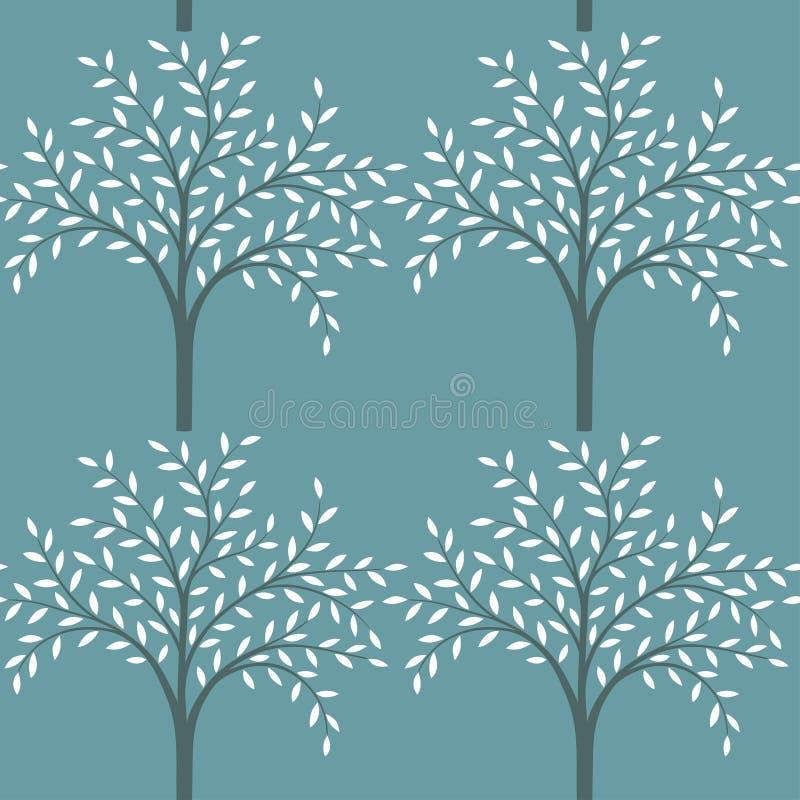 Reticolo senza giunte degli alberi illustrazione di stock