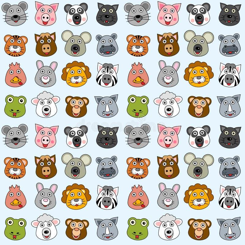 Reticolo senza giunte degli animali [2] royalty illustrazione gratis