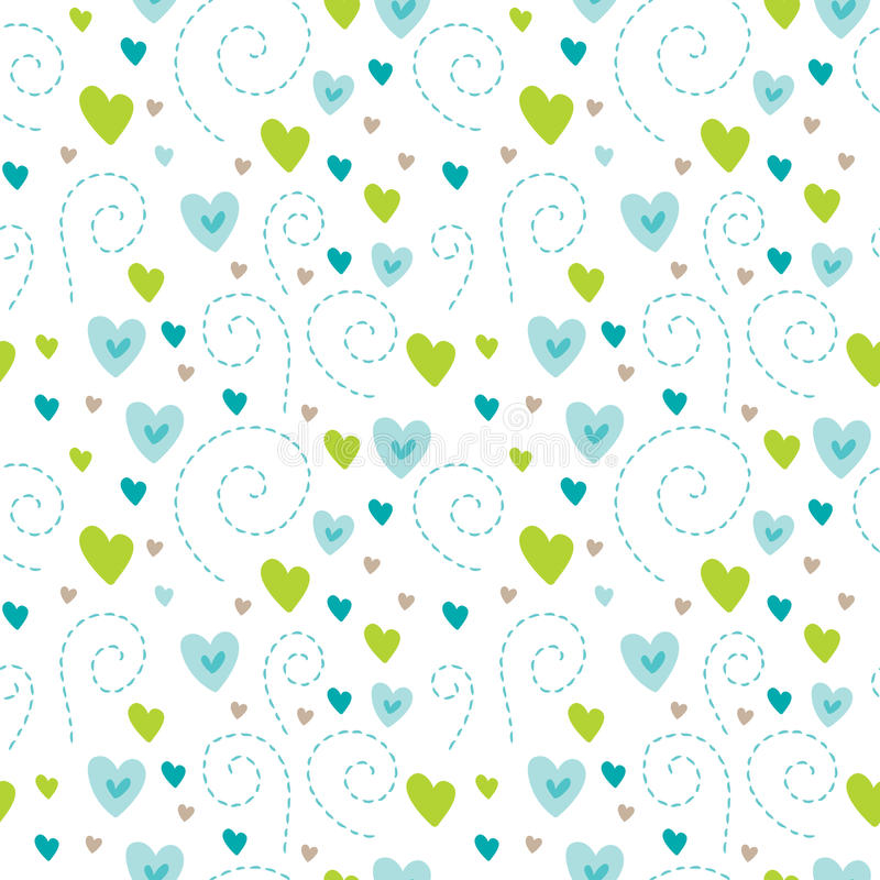 Reticolo senza giunte degli innamorati Fondo di amore nello stile di scarabocchio Struttura di giorno del ` s del biglietto di S. royalty illustrazione gratis