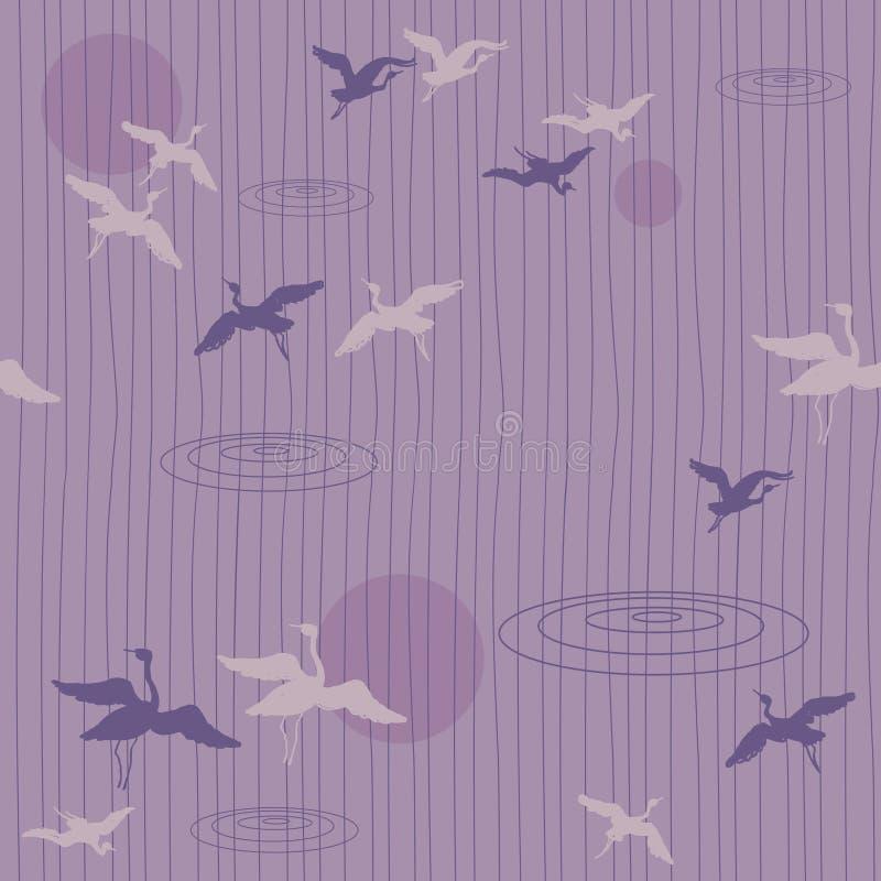 Reticolo senza giunte degli uccelli di volo royalty illustrazione gratis
