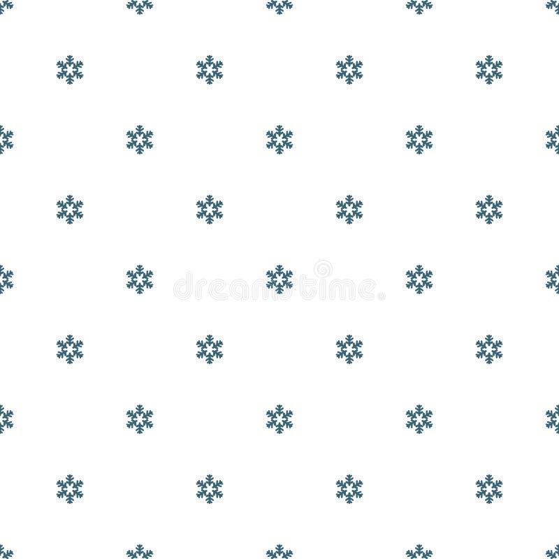 Reticolo senza giunte dei fiocchi di neve illustrazione di stock