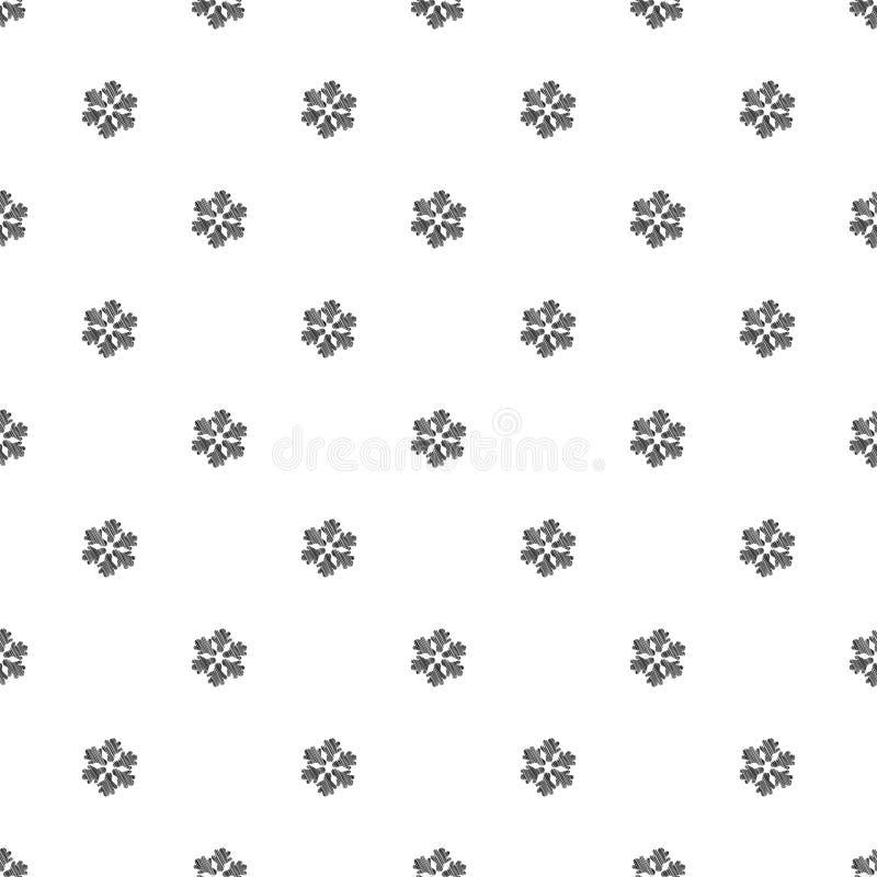 Reticolo senza giunte dei fiocchi di neve royalty illustrazione gratis