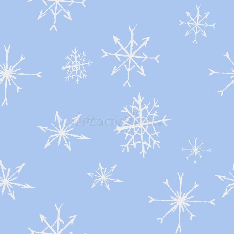 Reticolo senza giunte dei fiocchi di neve Illustrazione di vettore fotografia stock