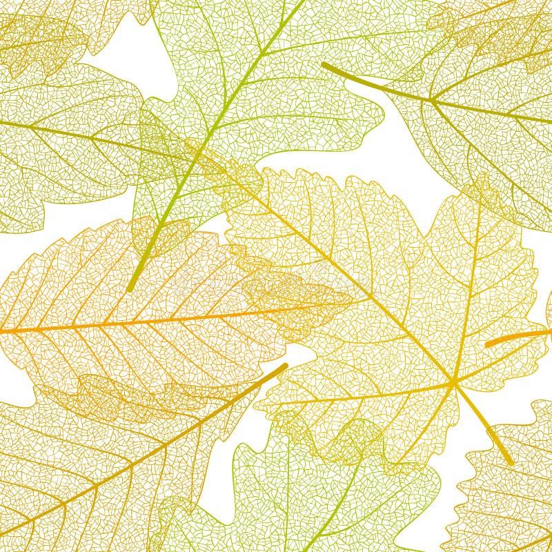 Reticolo senza giunte dei fogli di autunno illustrazione vettoriale