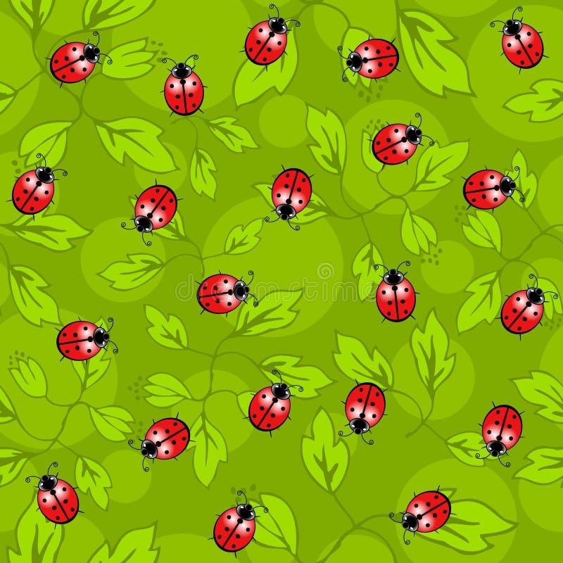 Reticolo senza giunte dei Ladybugs royalty illustrazione gratis