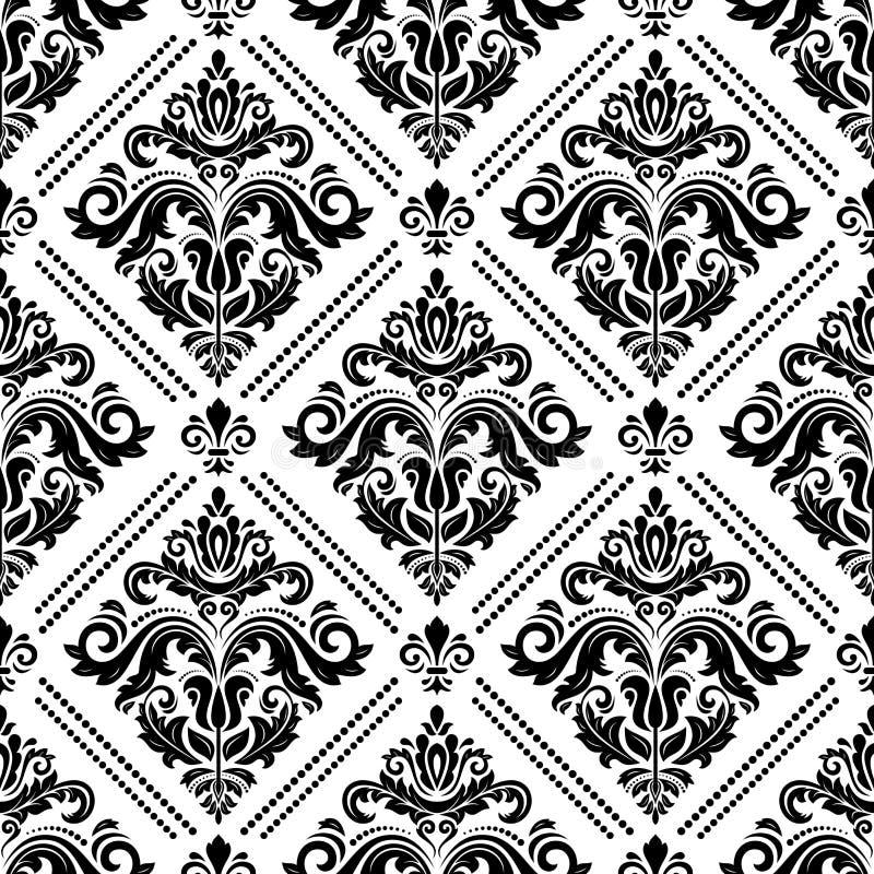 Reticolo senza giunte del damasco royalty illustrazione gratis