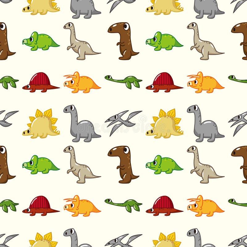 Reticolo senza giunte del dinosauro royalty illustrazione gratis