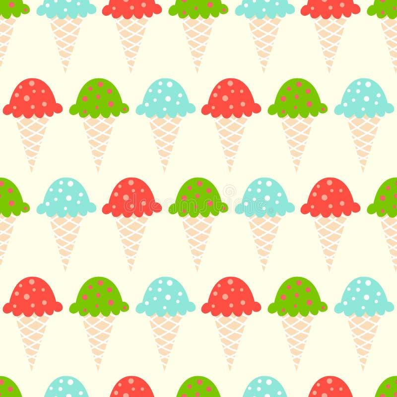 Reticolo senza giunte del gelato illustrazione vettoriale