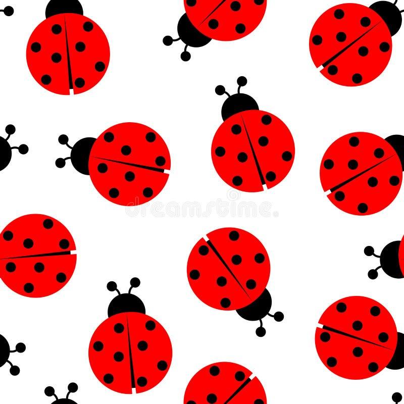 Reticolo senza giunte del Ladybug illustrazione di stock