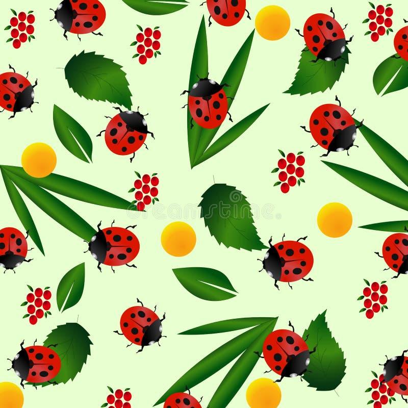 Reticolo senza giunte del Ladybug royalty illustrazione gratis