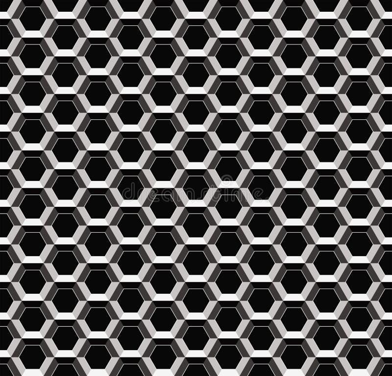 Reticolo senza giunte del metallo astratto illustrazione vettoriale