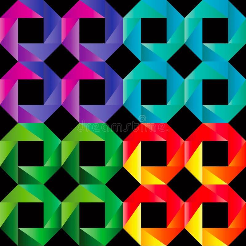 Reticolo senza giunte del mosaico illustrazione vettoriale
