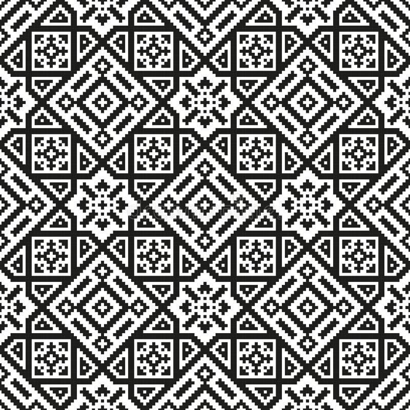 Reticolo senza giunte del mosaico Struttura geometrica moderna illustrazione vettoriale