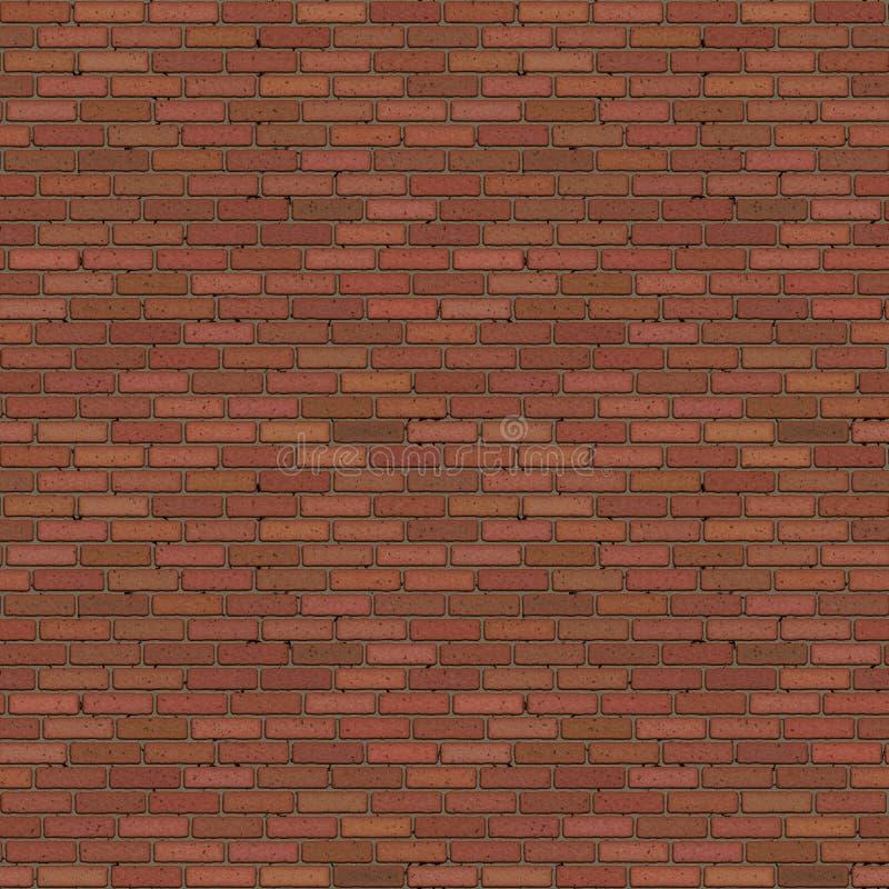 Reticolo senza giunte del muro di mattoni illustrazione di stock