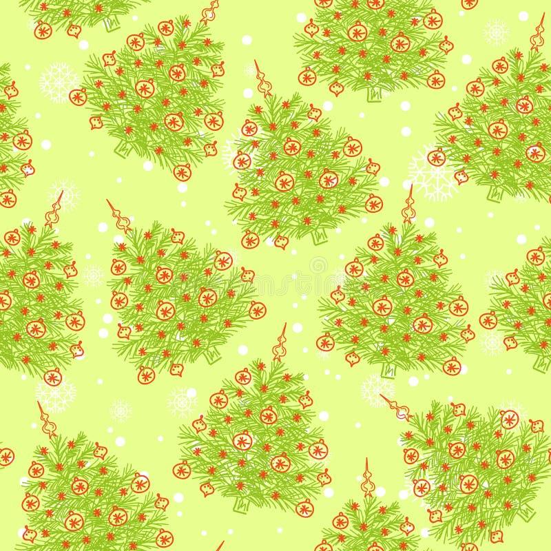 Reticolo senza giunte dell'albero di Natale royalty illustrazione gratis