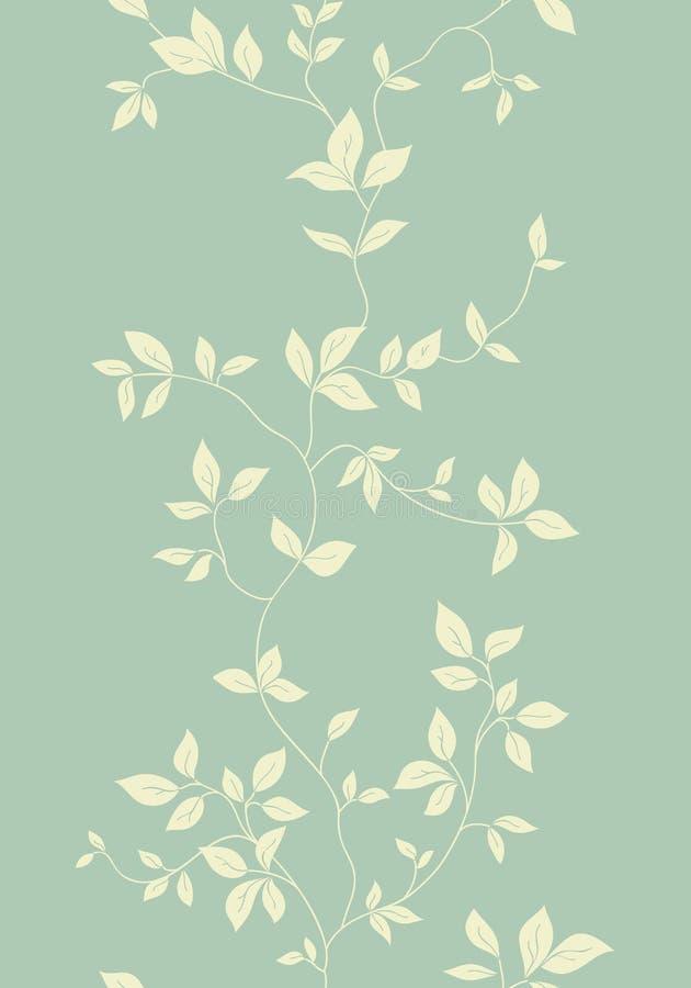 Reticolo senza giunte dell'annata floreale chiara illustrazione vettoriale