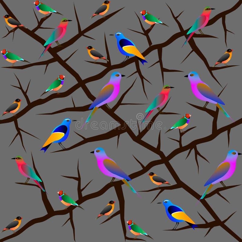 Reticolo senza giunte dell'uccello illustrazione vettoriale