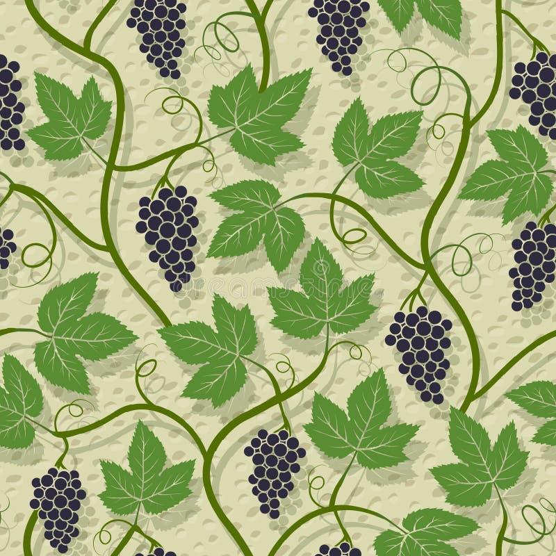 Reticolo senza giunte dell'uva royalty illustrazione gratis