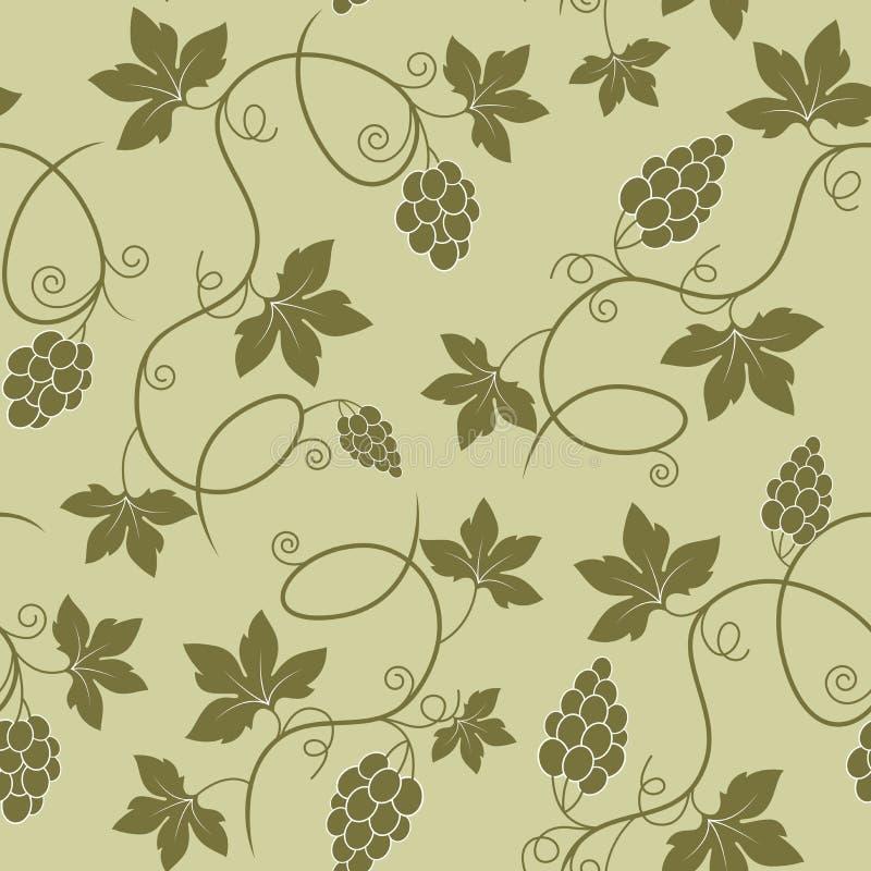 Reticolo senza giunte dell'uva illustrazione vettoriale