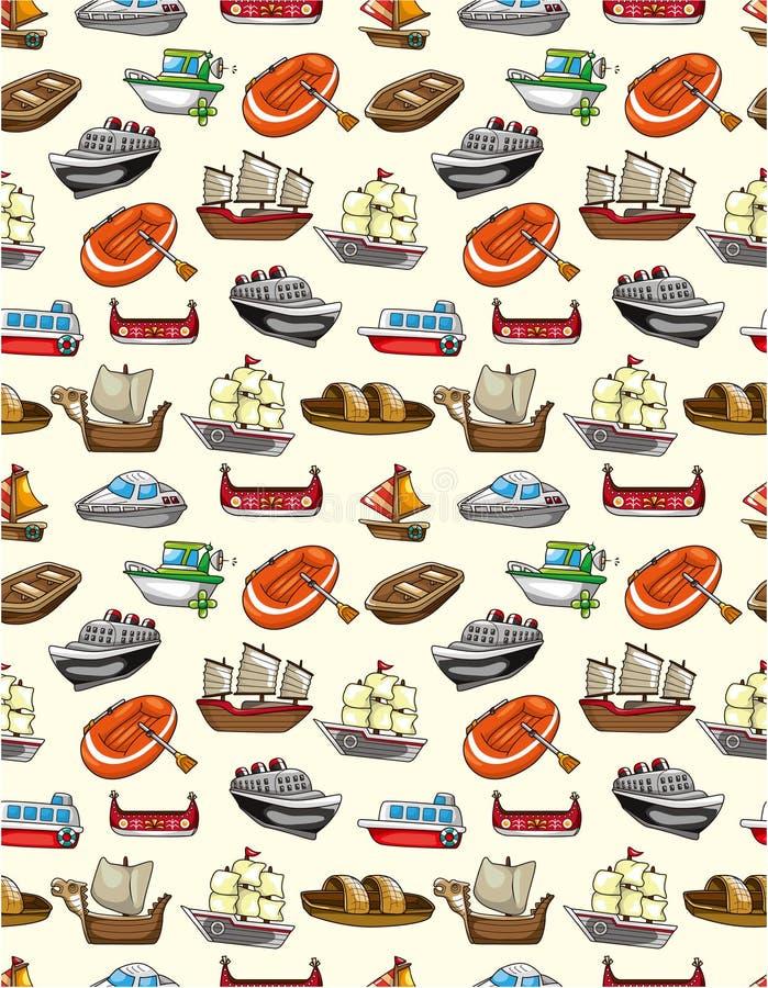 Reticolo senza giunte della barca royalty illustrazione gratis