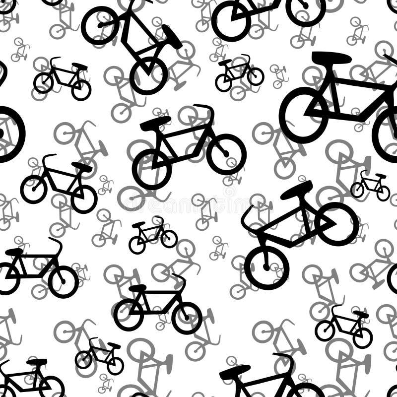 Reticolo senza giunte della bicicletta illustrazione di stock