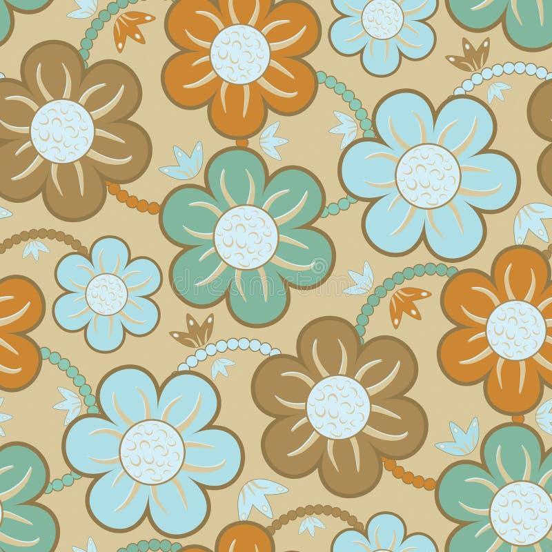 Reticolo senza giunte della carta da parati floreale illustrazione di stock